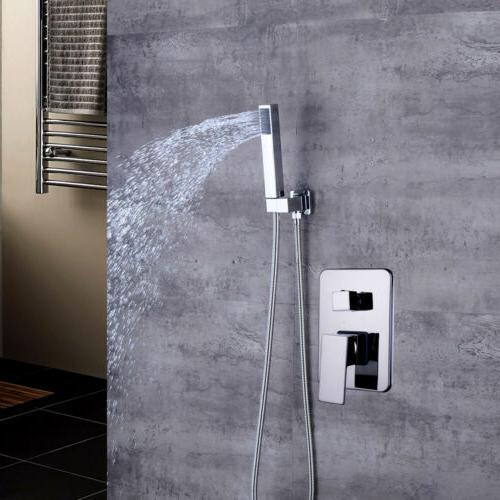Bathroom Faucet Rainfall Head System Chrome Mixer