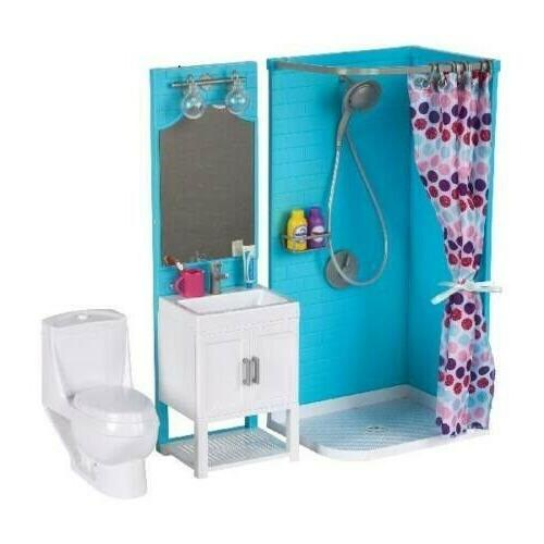 bathroom play set and shower and light