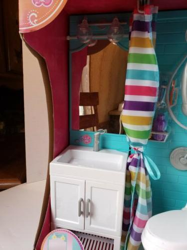 My As Playset Light Vanity, Toilet For