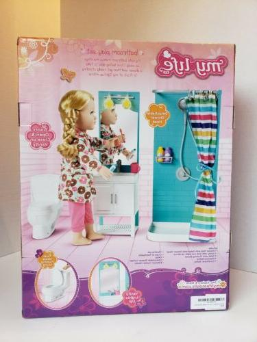 My Life As Bathroom Playset 17 Light Up For