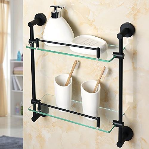 Alise Bathroom Shelf Caddy Double-Layer Shower Shelves Wall
