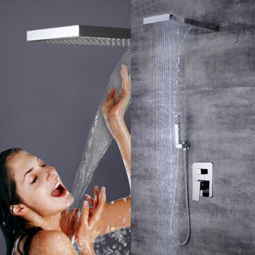 Bathroom Rainfall System Chrome Mixer