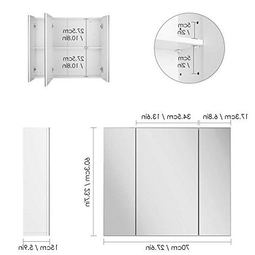 "HOMFA Bathroom Wall Mirror Cabinet 27.6"" Wide, The Toilet Saver Storage Kitchen Door,"