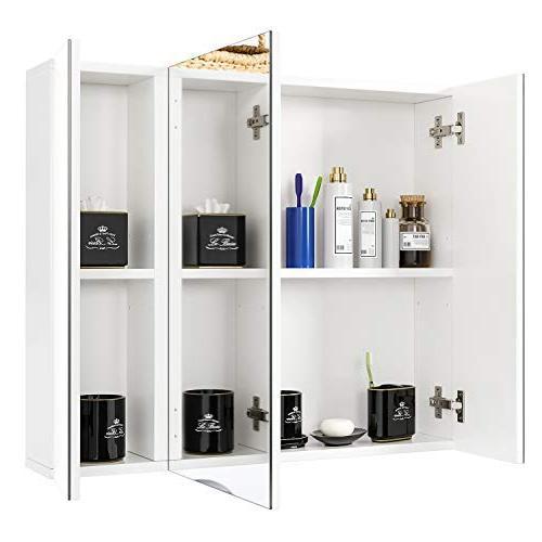 HOMFA Cabinet Wide, The Storage Kitchen 3 Door, White