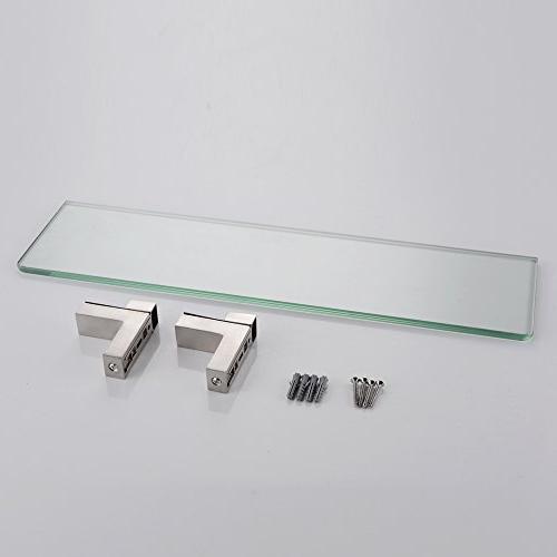 KES Glass Inch Rectangular Mount, Brushed BGS3201-2