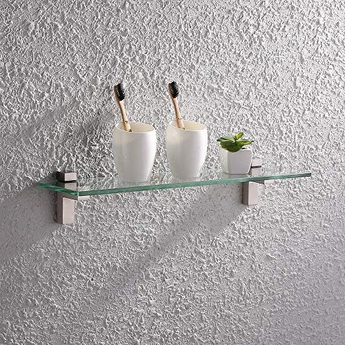 KES Bathroom with Inch Rectangular Glass Wall Mount,