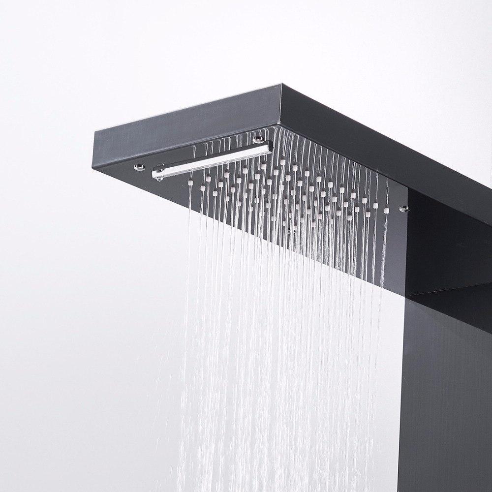 Fapully Rainfall <font><b>Shower</b></font> Wall Mounted System Jets Hand <font><b>Shower</b></font>