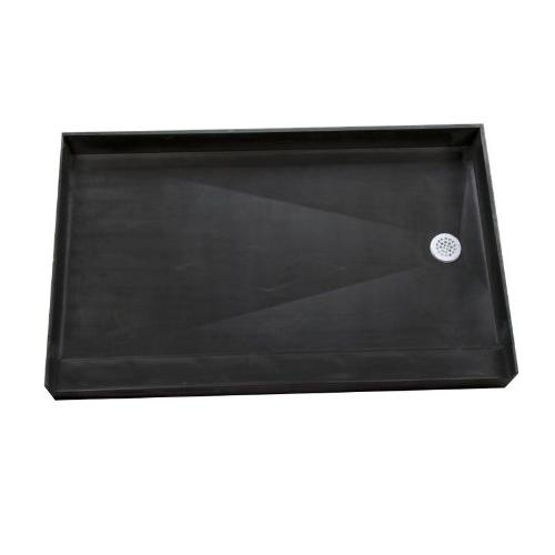 "Tile 3460L Black Fixture 34"" Three with Single"