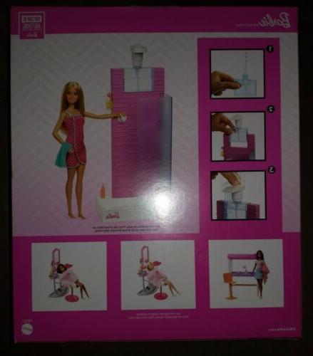Brand New Mattel FXG51 Bathroom Shower Furniture DVX51