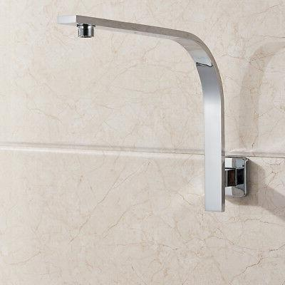 Brushed Square Rain Shower Head Arm Wall Mount Top Heads