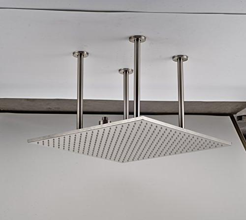 Rozin Ceiling Overhead System 2-way Diverter Valve with Handheld Brushed