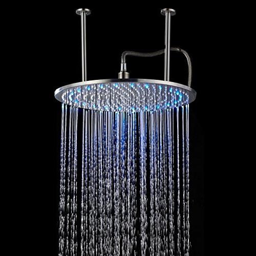 ceiling mounted round rainfall shower