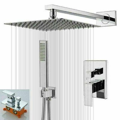 chrome 2 way shower set system 8