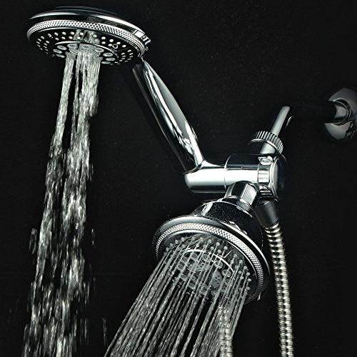 Hydroluxe & Shower Combo. High Pressure in Shower System with Hose, Diverter,