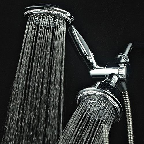"""Hydroluxe & Rain High Pressure 24 Function 4"""" Dual in Shower Hose, 3-way Diverter,"""