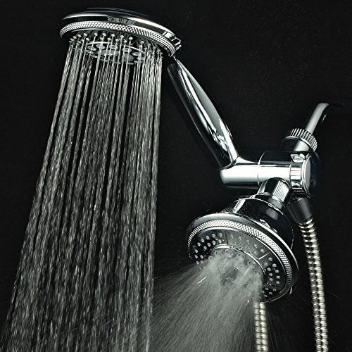 "Hydroluxe Showerhead & High Pressure Function 4"" System with Stainless Steel Hose, 3-way Diverter, Finish"