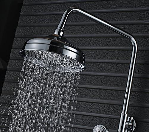 Rozin Chrome 8 Round Set Mixer Tap with Hand Spray