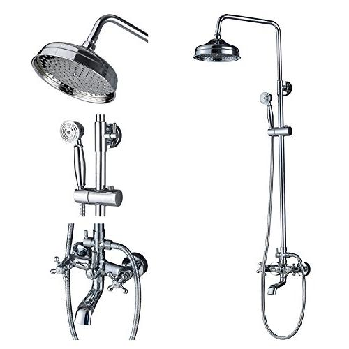 chrome bathroom 8 round rainfall