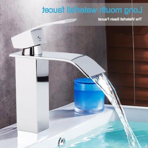 chrome brass bathroom sink faucet single handle