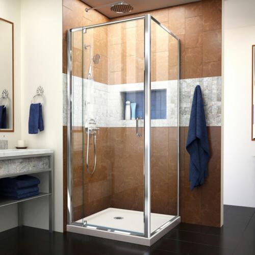 DreamLine DL-6715-88-01CL Flex 36 x 36 Shower Enclosure & Bl