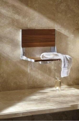 Moen Home Care Wall Teak Aluminum Folding Bronze