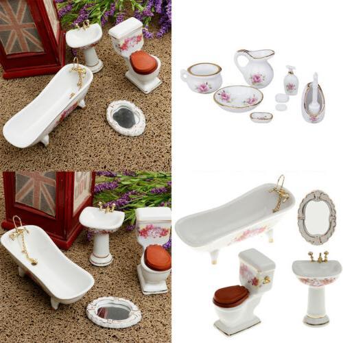 MagiDeal Furniture Floral Ceramic Shower 1/12