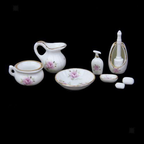 Dollhouse Floral Shower Set Bathroom Decoration