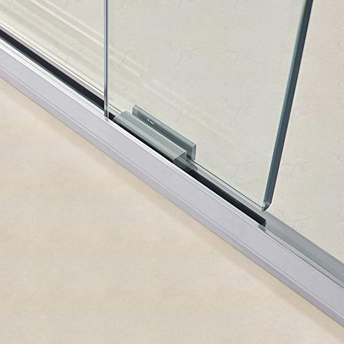 "WOODBRIDGE 60"" 72"" Double Sliding Frameless Shower Door Finish, MSDE6072-B, Bypass 60""x72"""