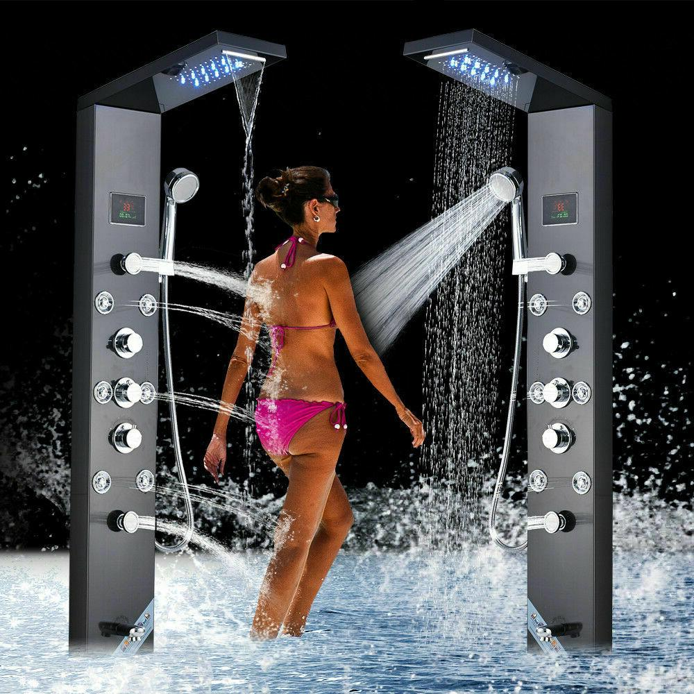 ello and allo led shower panel tower