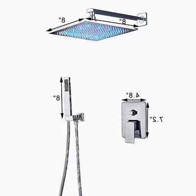 Chrome Bath 12 Inch Set Rainfall Shower Tap