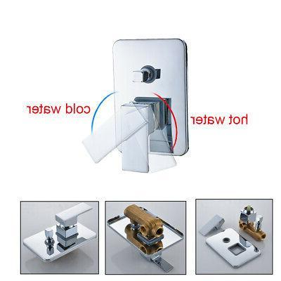 LED Shower Faucet Set Spout Mixer Tap