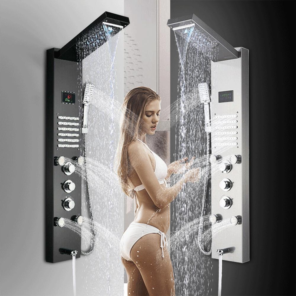 ello and allo shower panel tower system
