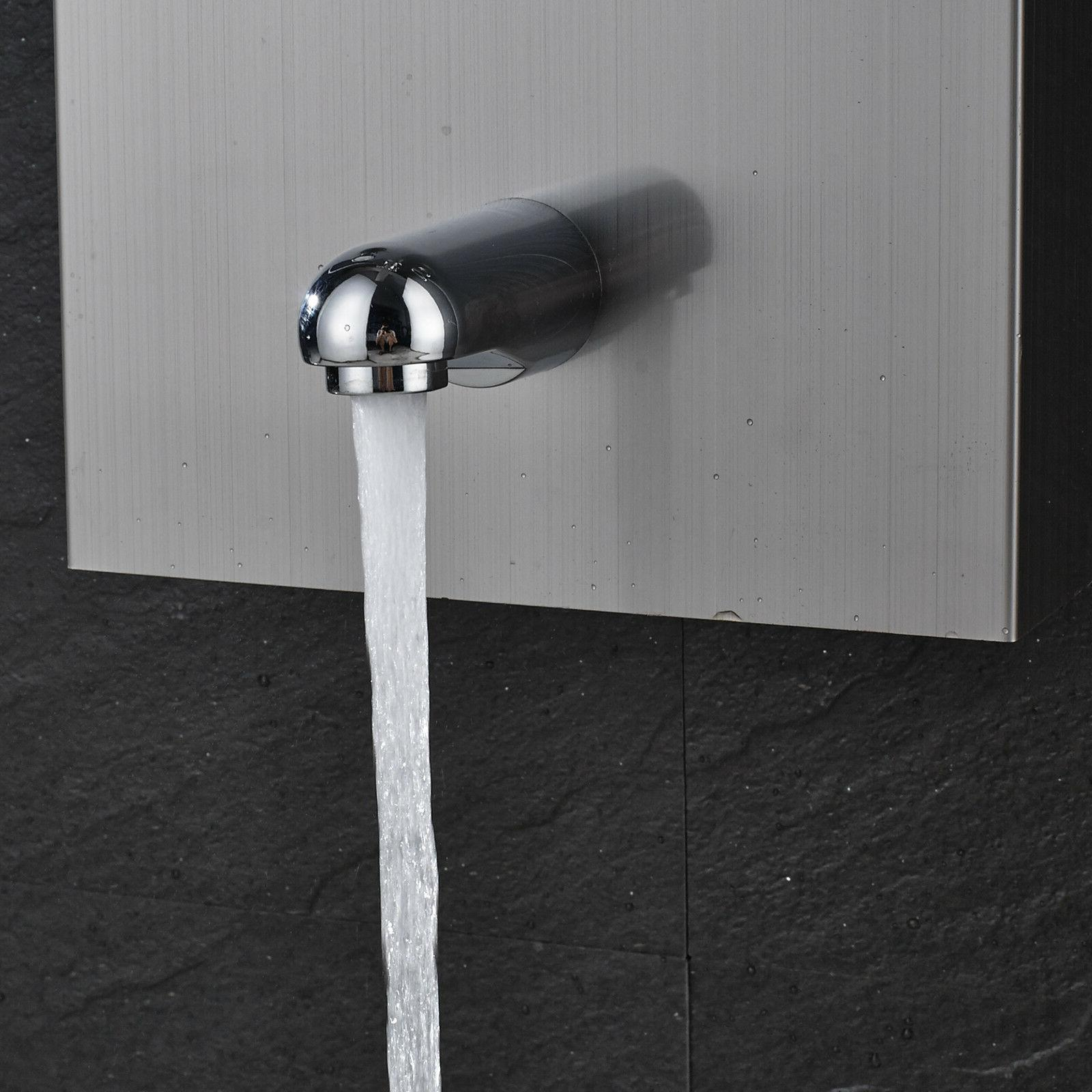 ELLO&ALLO Stainless Steel Waterfall Shower Tower Rain Jet