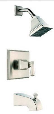 Exhibit BATHTUB SHOWER HEAD faucet control w/ Valve BRUSHED