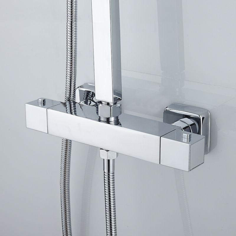 Tension Shower Curtain Rod Chrome Acrylic Durable Fits In Op