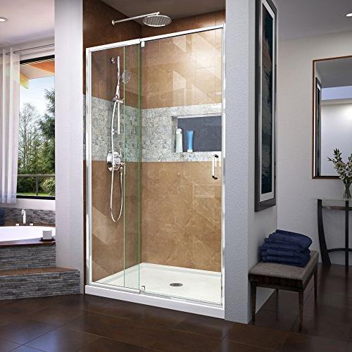 DreamLine Flex 38-42 W H Shower Door in Chrome,