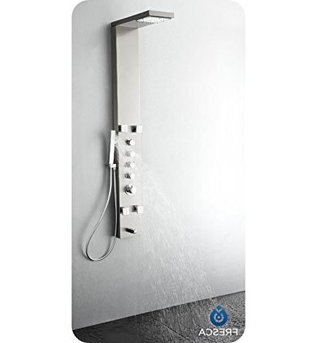 Fresca FSP8006BS Stainless Thermostatic Massage Brushed Silver