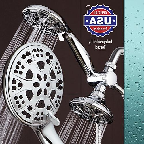 AquaDance Giant 30 Mode All High Power Shower Head Handheld Separately Together! Independently Tested Strict Performance