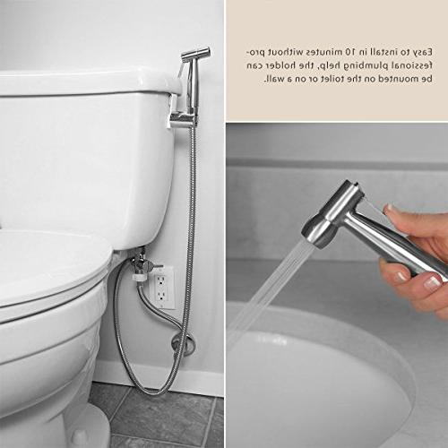 Abedoe Held Toilet Sprayer Kit Bathroom Cloth Shower Sprayer Stainless Steel Spray for Personal