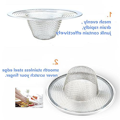 "2pcs Heavy Stainless Steel Slop Filter Trap, 1"" Metal Strainer,Perfect for Bathtub Floor drain balcony"