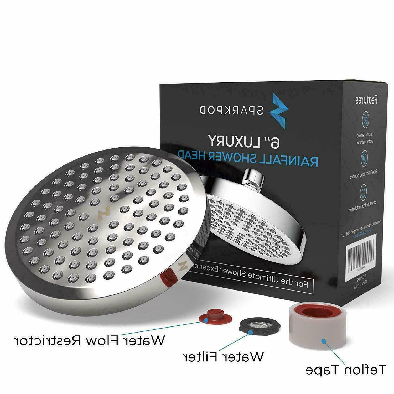 SparkPod High Pressure Rainfall Shower Head - Luxury Modern