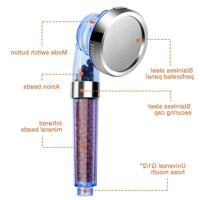 High Turbo Pressure Head Filtered Ionic Stone Stream Water Saving