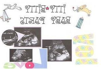 itty bitty baby parts shower game