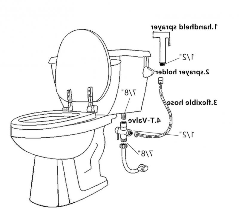 Joyway Toilet Sprayer Set-Handheld Kit-Bathroom for