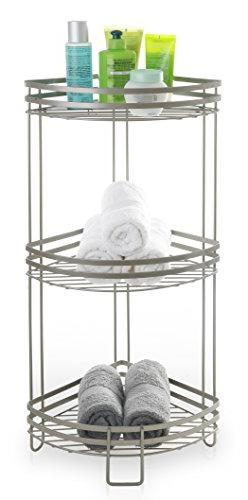 BINO Lafayette Rust-Resistant 3-Tier Corner Spa Tower, Nicke