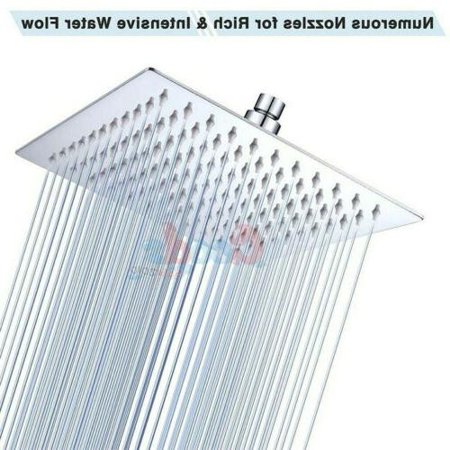 large 12 inch square stainless steel rain