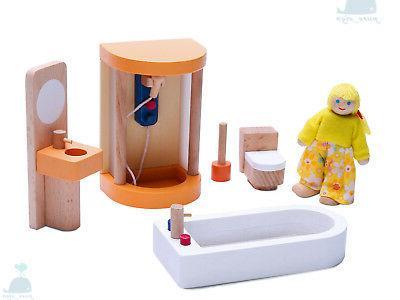 latest 2018 wooden furniture dolls house shower
