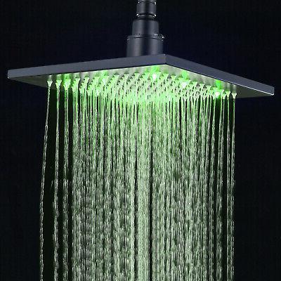 LED Rubbed Bathroom Rainfall