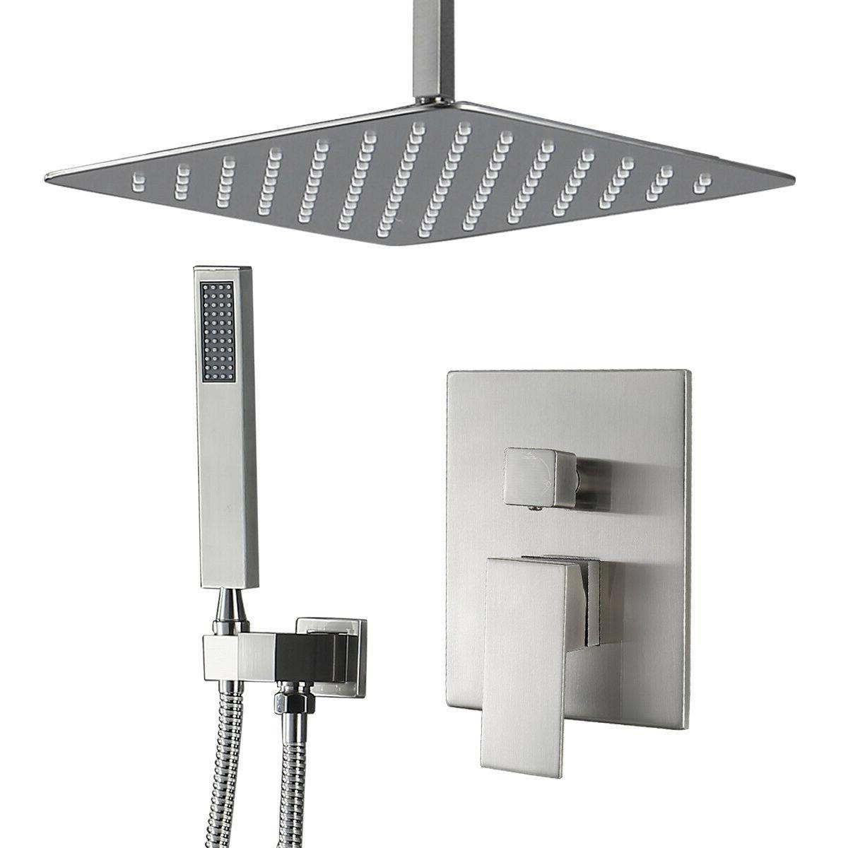 led oil rubbed bronze bathroom shower set