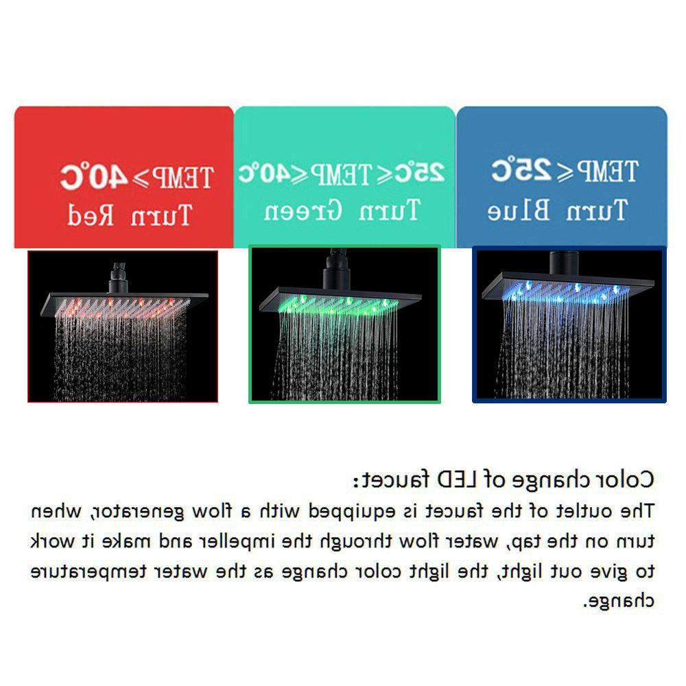 LED Shower Mounted Shower With Hand